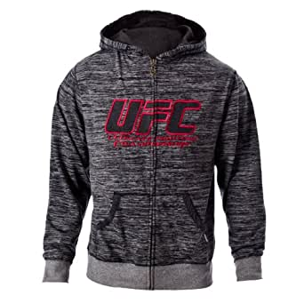 UFC Men's Black/Gray Twisted Zip Up Hoodie (XXX-Large)