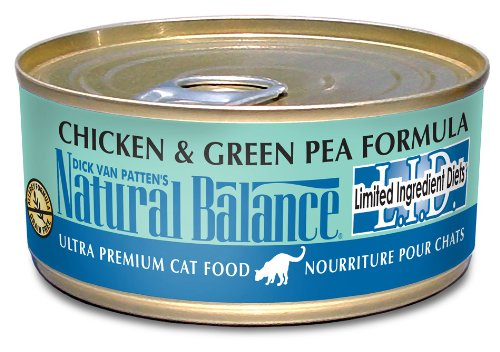 Natural Balance Chicken Green Pea Formula Cat Food (Pack of 24 6-Ounce Cans), My Pet Supplies