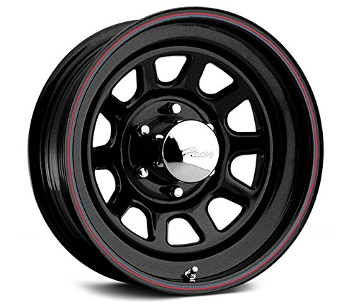 Pacer Black Daytona 15x7 Black Wheel / Rim 5x4.5 with a 0mm Offset and a 83.82 Hub Bore. Partnumber 342B-5712