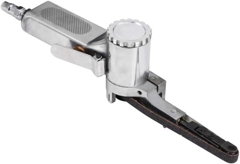 XINGJIJIJIA Easy 10 X 330mm Pneumatic Air Belt Sander Precision Polishing Tool Abrasive Grinding Machine 16000rpm 130L/Min Gas Consumption variable (Color : Yellow) Yellow