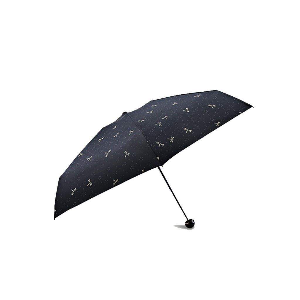 Teng Peng- Compact Travel Umbrella- Fashionable Portable Parasol Folding Umbrella Sun Shade Anti-uv Fast Drying Windproof Travel Umbrella for Women-Teflon Coating Household Umbrella