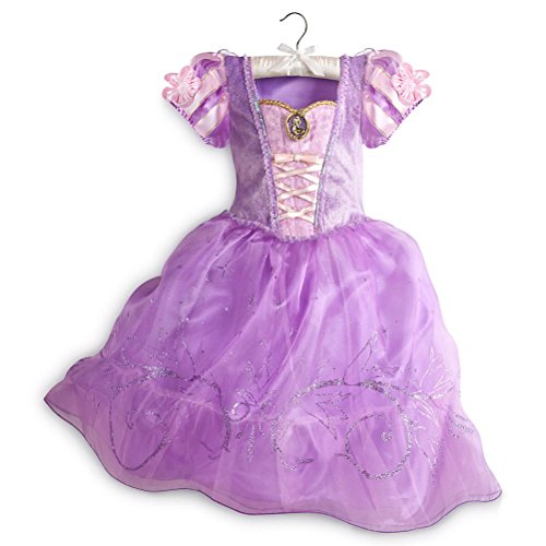 Disney Store Princess Tangled Rapunzel Little Girl Halloween Costume Dress 5/6 (Tangled Rapunzel Dress)