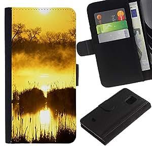 All Phone Most Case / Oferta Especial Cáscara Funda de cuero Monedero Cubierta de proteccion Caso / Wallet Case for Samsung Galaxy S5 Mini, SM-G800 // Sunset Beautiful Nature 50