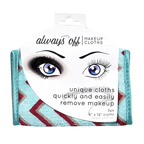 517dA0SQAWL S & T Always Off Makeup Remover Cloths, 3 Count - Colors May Vary