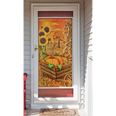 Fall Door Cover Party Accessory (1 count) (1/Pkg) 30 in. x 60 in (76 cm x 152 cm): Kitchen & Dining