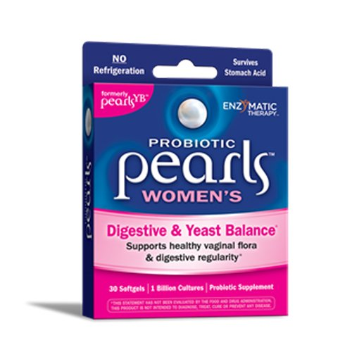 Enzymatic Therapy Probiotic PearlsTM Women's Yest Balance 30 Softgels. Pack of 2.