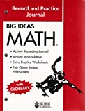 Big Ideas Math (Red) Record and Practice Journal, HOLT MCDOUGAL, 1608402339