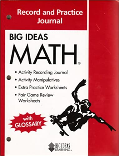 Big Ideas Math Common Core Record And Practice Journal Red Holt