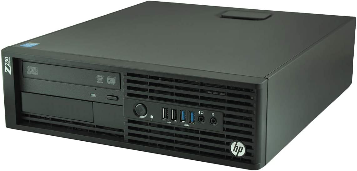 HP z230 Workstation SFF Business Desktop Computer, Core i7 4790 Up to 4.0Ghz, 16GB RAM, 120GB SSD, DisplayPort, USB 3.0, Windows 10 Pro (Renewed)