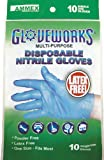 AMMEX - GWN10PK - Nitrile Gloves - Gloveworks - 10/pack, Disposable, Powder Free, 4 mil, Uni-size, Blue  (Case of 250) фото