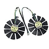 graphic card fan - A Pair 87MM Cooler Fan For ASUS GTX1060 1070 Ti RX 470 570 580 Graphics Card T129215SU Cooling Fans