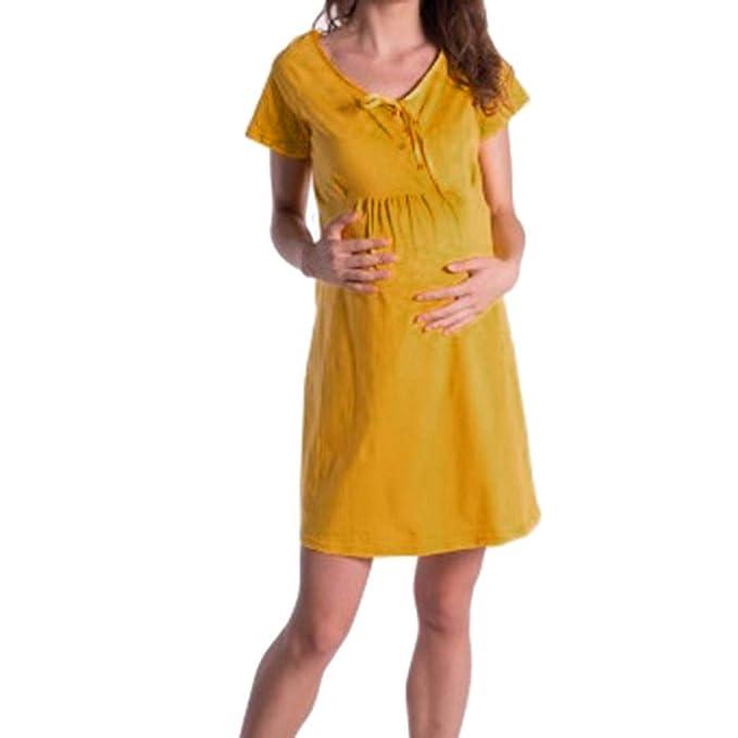 026474b27 Vectry Strir-Ropa Embarazada Vestidos Fiesta Premama para Boda Moda Mujer  2019 Vestidos Verano Vestidos Largos Casual Verano 2019 Vestidos Elegantes  de ...