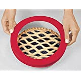 """Trenton Gifts Silicone Pie Crust Shield, Crust Protector, Fits 9"""" to 10"""" diameter Pies"""