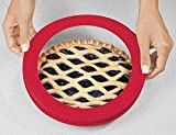 9 inch pie crust shield - Trenton Gifts Silicone Pie Crust Shield, Crust Protector, Fits 9