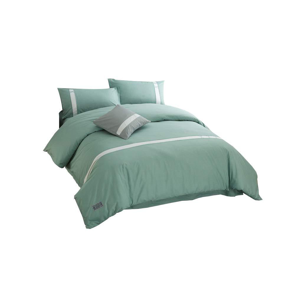 寝具の掛け布団カバー枕カバーホルムアルデヒドフリーソフトで快適な家は多色を褪色するのは簡単ではありません Increase Green B07S536NQG