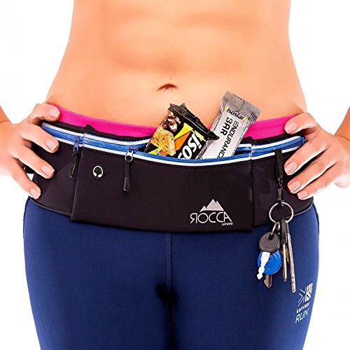 Running Belt - iPhone X 6 7 8 Plus & Samsung Phone Pouch for Runners | Best Women Men Kids Reflective Waist Pocket Belt Gear for Fitness Gym Hiking Workout - Running Dogs Good