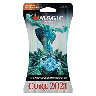 Magic: The Gathering Core Set 2021 (M21) Collector Booster | 15 Cards | Min. 4 Rares Per Pack