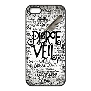 Stylish Pierce The Veil Design Rubber pc hard Shell Protector for Iphone 5 5S
