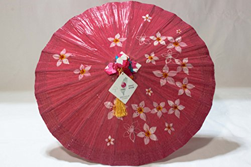 Oil Paper Umbrella with Tung Floral Pattern