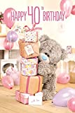 Me To You Tatty Teddy 3D Holographic Card - Happy 40th Birthday