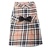 Tan Plaid Dress, Tan, L Review