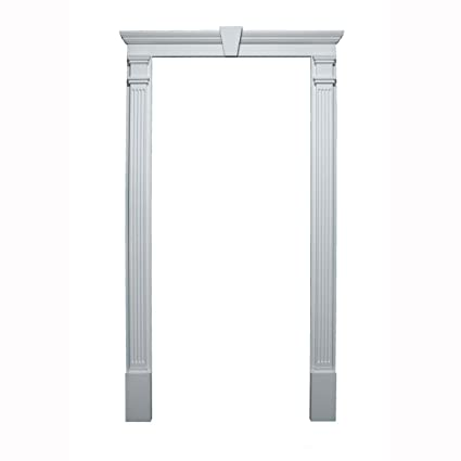 Fypon 20020 Door Trim Kit With Crosshead, Pilaster U0026 Keystone, For Door  Sizes 36u0026quot