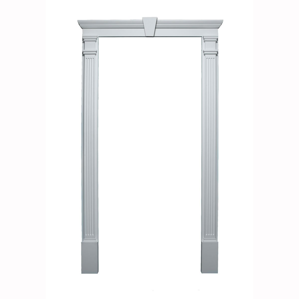 Fypon 20020 Door Trim Kit with Crosshead, Pilaster & Keystone, for Door Sizes 36''W - 40''W x 80''H - 90''H by Fypon