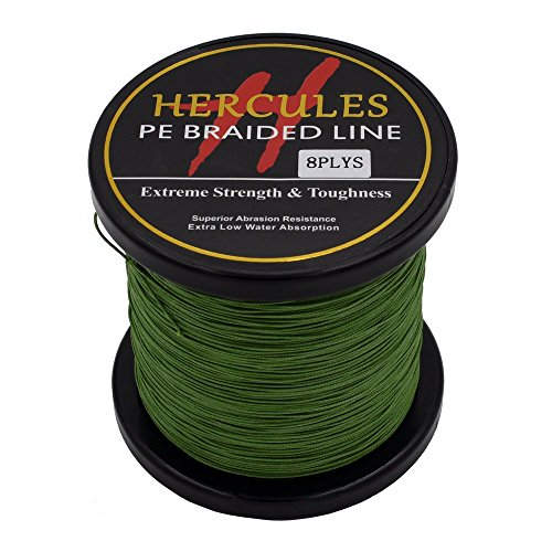Hercules 300m 328yds Army Green 10lbs-300lbs Pe Braided Fishing Line 8  Strands (200lb/90 7kg 0 75mm)