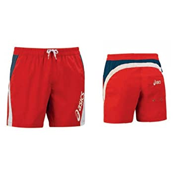 asics swimwear red