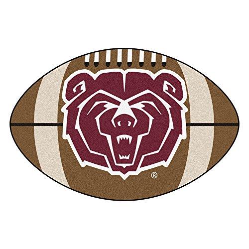 (NCAA Missouri State Bears Football Shaped Mat Area Rug)