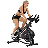 Sunny Health & Fitness Asuna Minotaur Cycle Exercise Bike – Magnetic Belt Drive High Weight Capacity Commercial Indoor Cycling Bike For Sale