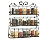 Saganizer 3 Tier spice rack spice organizer, wall spice rack, great idea for spice storage, designed spice shelf
