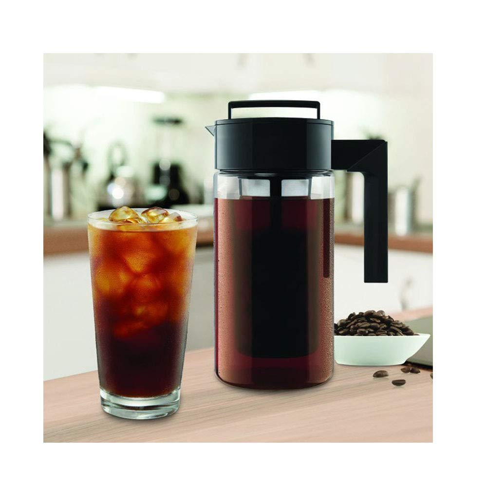 JAWM 900ML Cold Brew Iced Coffee Maker With Airtight Lid&Silicone Handle by JAWM