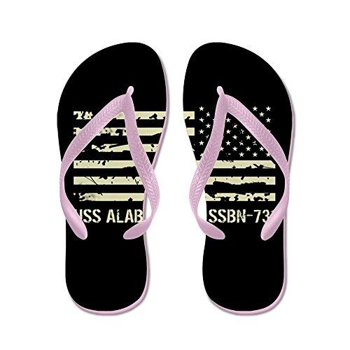Cafepress Uss Alabama - Flip Flops, Grappige String Sandalen, Strand Sandalen Roze