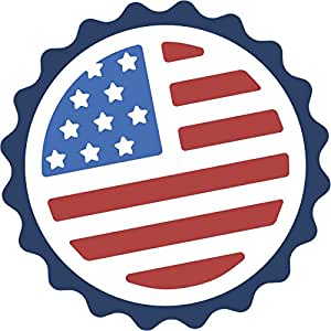 Amazon.com: Made in the USA Bottle Cap Cartoon Icon Vinyl