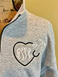personalized monogrammed nurse quarter zip sweatshirt gift for nurse or nursing student graduation