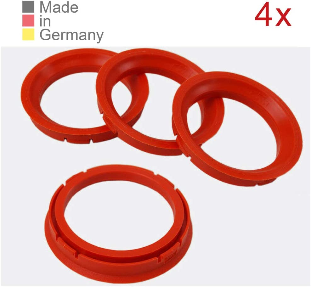 Konikon 4x Zentrierringe 73 0 X 57 1 Mm Rot Felgen Ringe Radnaben Zentrierring Adapterring Ring Felgenring Distanzring Made In Germany Auto