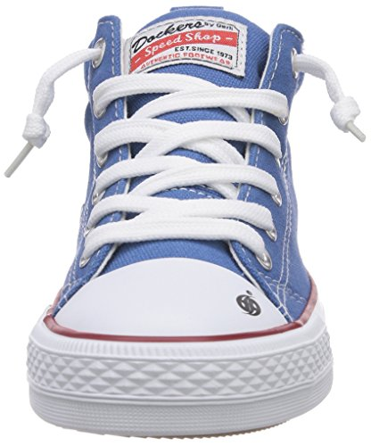 Dockers by Gerli 36AY60 - zapatillas deportivas altas de lona infantil azul - Blau (blau 600)