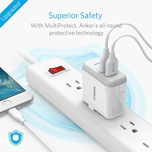 [Upgraded] Anker 2-Port 24W USB Wall