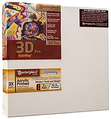 "Masterpiece Artist Canvas DM-2240 3D Pro 2-1/2"" Deep, 22"" x 40"", Cotton 10.5oz - 3X - Monterey Most Popular"