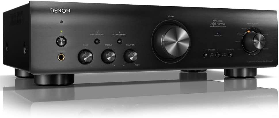 Denon PMA-800NE Stereo Integrated Amplifier | Up to 85W x 2 Channels | Built-In Phono Pre-Amp | Analog Mode | Advanced High Current Power,Black