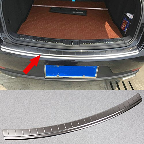 (Fit for Porsche Macan 2014 2015 2016 2017 Rear Bumper Sill Plate Guard Cover Trim Stainless Steel)