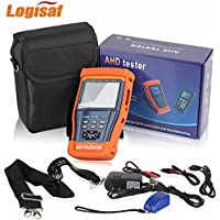 Logisaf 4 in 1 CCTV Tester Video Monitor Tester for AHD TVI CVI CVBS Cameras, 3.5 LCD Monitor, 12V DC Power Out, PTZ Test, Cable Test, Audio&Video Test Rechargeable Battery
