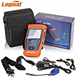Logisaf 4 in 1 CCTV Tester Video Monitor Tester for AHD TVI CVI CVBS Cameras, 3.5'' LCD Monitor, 12V DC Power Out, PTZ Test, Cable Test, Audio&Video Test Rechargeable Battery