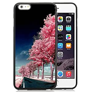 New Beautiful Custom Designed Cover Case For iPhone 6 Plus 5.5 Inch With Roadside Pink Trees Phone Case
