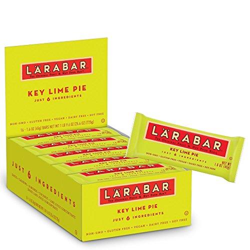 Larabar Gluten Free Bar, Key Lime Pie, 1.8 oz Bars (16 Count), Whole Food Gluten Free Bars, Dairy Free Snacks