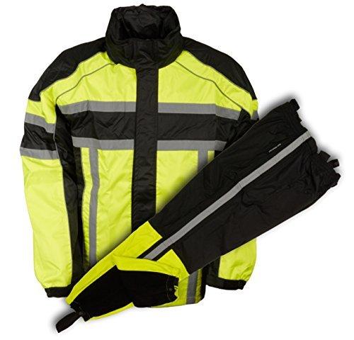 NexGen Men's Rain Suit (Black/Neon Green, 5X-Large)