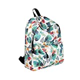 Laptop Backpacks, Canvas Casual Printing Zipper Multi Layers Bright Backpack Fashion Bags School Young Safety Laptop Backpacks Retro Travel Bags for Girls Women (SYe Boens