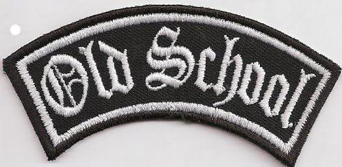 Motorrad Rocker Patch Aufn/äher Abzeichen OLD SCHOOL Biker Kutten Front Tab
