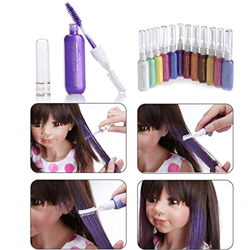TONSEE Temporary Color Hair Dye Mascara Non-toxic Hair Mix Color Dyeing Salon Stick (Purple) by TONSEE (Image #2)